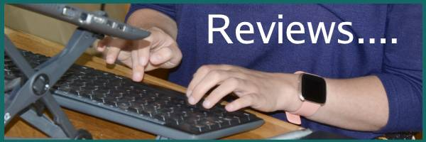 hands typing a review